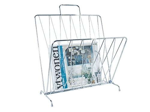 Present Time Diamond Raster Zeitschriftenhalter, Metall, Chrome, Einheitsgröße