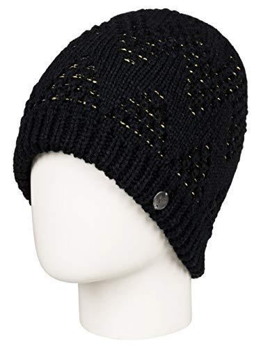 Roxy Damen Mütze Glacialis - Mütze, True Black, 1SZ, ERJHA03558