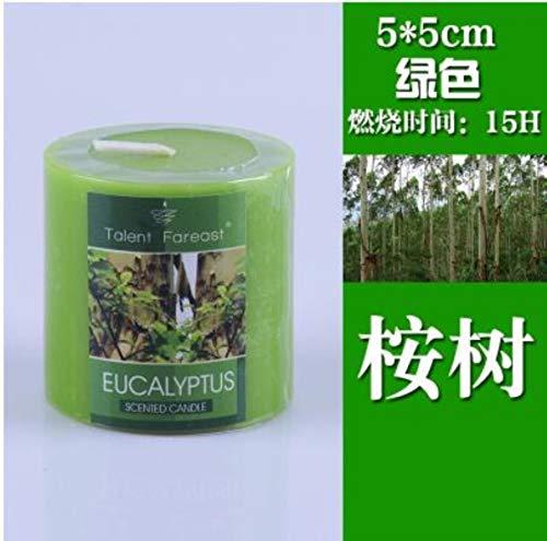 Aromatherapie pijlerkaars rook romantische geurkaarsen geurende luchtfilter gift van de huwelijksverjaardag geur,S green