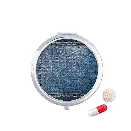 DIYthinker Denim Jean Cowboy Voering Textiel Reizen Pocket Pill Case Medicine Drug Opbergdoos Dispenser Spiegel Gift
