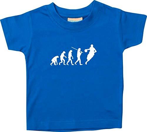 T-Shirt Enfants Evolution Basketball Handball, Culte - Royal, 12-18Monate