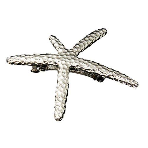 Gazechimp Seestern förmig Haarspange Haarklammer Schöne Elegante Frauen Geschenk - Silber