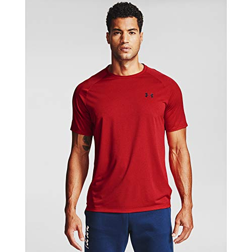 Under Armour Herren Tech 2.0 Novelty Short-Sleeve T-Shirt kurzärmelig, Rot (600)/Schwarz, Medium