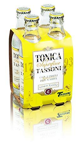 Cedral Tassoni Tonica Superfine Tassoni Soft Drink, Limoni del Garda, 4 x 180ml