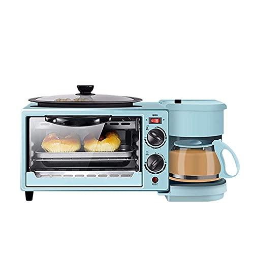 Pequeños electrodomésticos de Cocina 3 en 1 Máquina de Desayuno eléctrica Multifunción Cafetera Estufa Mini Horno Pan para el hogar Horno para Pizza Estufa,para Desayuno, té de l
