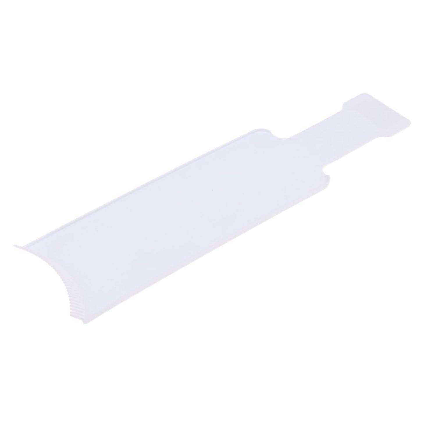 望ましいテーブル生息地Homyl 染色櫛プレート 着色ボード 染めボード ヘアカラー ヘアブラシ 便利 おしゃれ染 2サイズ2色選べる - L, 白