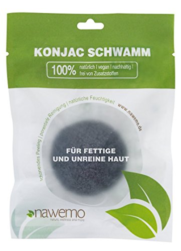 Konjac bamboo charcoal sponge for skin impurities