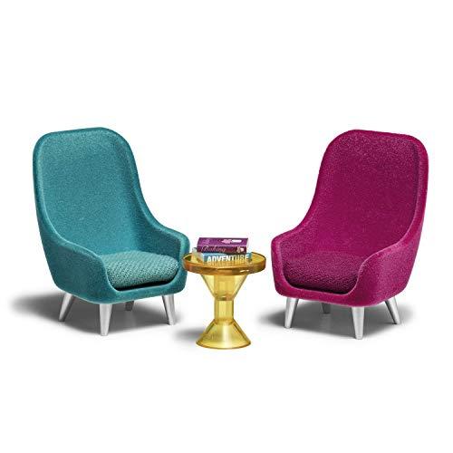 Lundby 60-305900 - Sessel Puppenhaus - Möbelset 7-teilig - Puppenhauszubehör - Möbel - Wohnzimmerset - Einrichtung - Wohnzimmer - Zubehör - ab 4 Jahre - 11 cm Puppen - Minipuppen 1:18