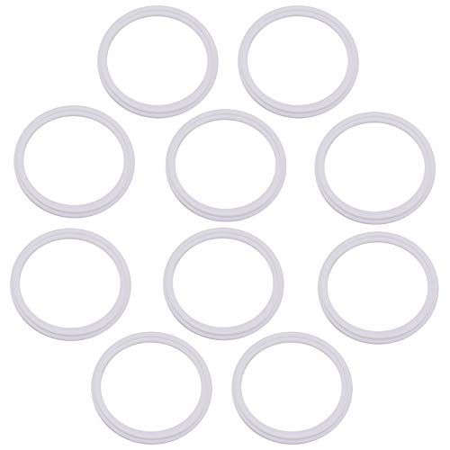 DERNORD Teflon (PTFE) Tri-Clamp Gasket O-ring - 4 Inch Style Fits OD 119MM Sanitary Pipe Weld Ferrule (Pack of 10)