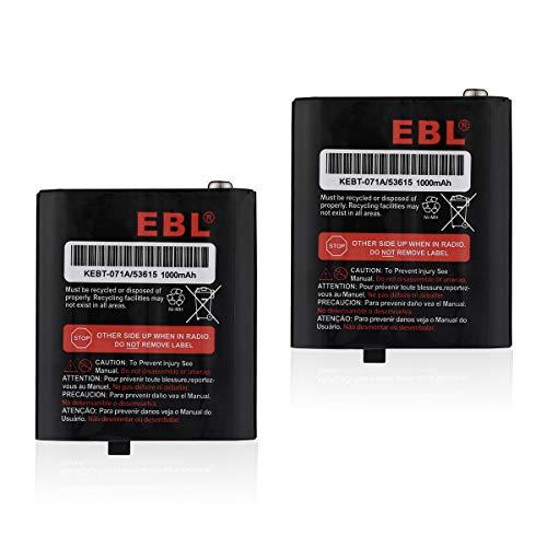 EBL 3.6V 1000mAh Rechargeable Battery for Motorola 53615 m53615 KEBT-071-A KEBT-071-B KEBT-071-C KEBT-071-D Talkabout 5950 T4800 T4900 T5000 T5800 T9500R FV500 Series HKNN4002A HKNN4002B 2 Pack