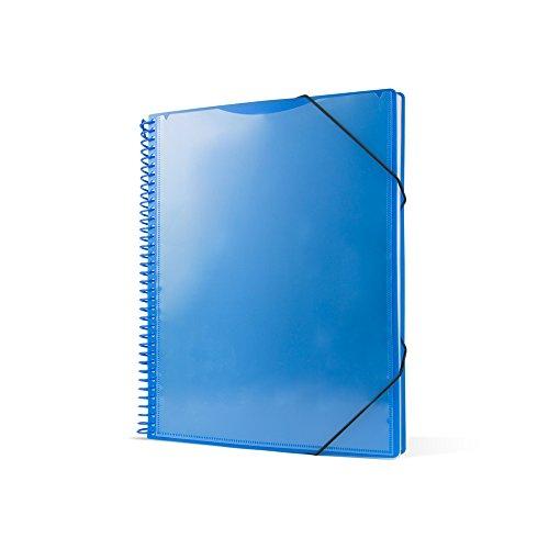 Pryse 4240062 - Carpeta espiral con 60 fundas, A4, color azul
