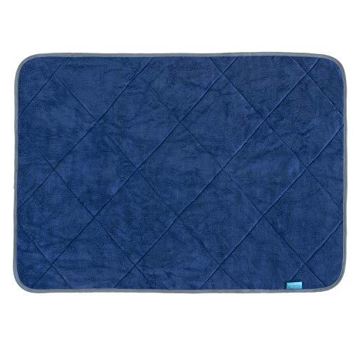 オカ(OKA) 乾度良好カララカ タオル地 バスマット 約50cm×70cm ネイビー(乾度良好繊維使用 吸水 速乾)