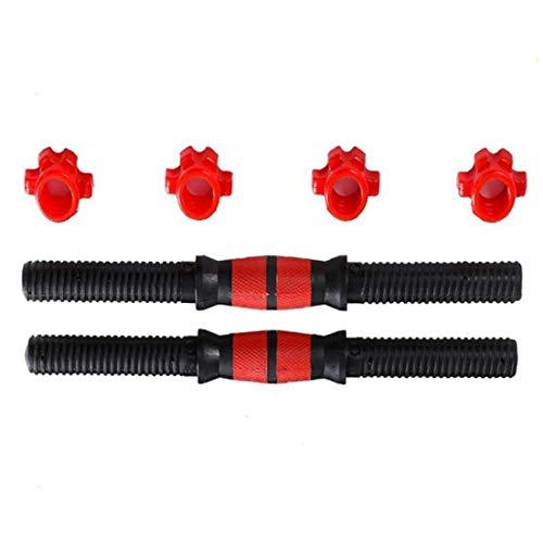 Liadance Barbell de elevación Ajustable con Mancuernas Mancuernas Barras Rojas 2 Paquetes