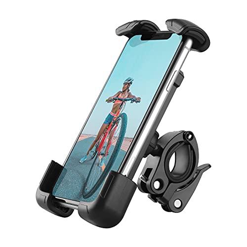 BIGFOX Supporto Telefono Bicicletta, Porta Cellulare Bici Rotazione a 360°, Metallico Supporto Motociclo-Universale Manubrio Supporto Cellulare per 4.7-6.8 Pollici Smartphones,per Manubrio 15-30mm