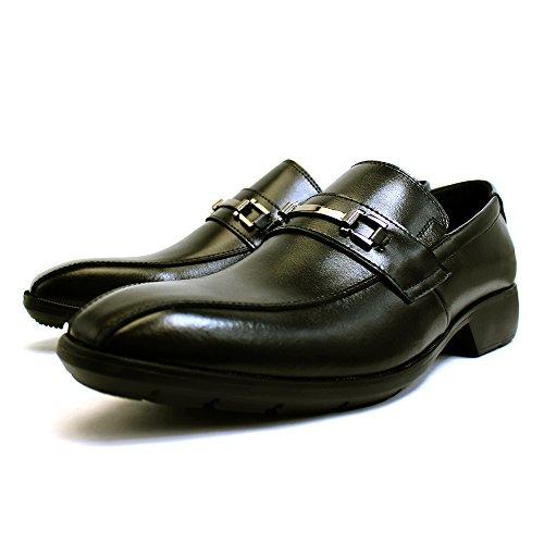 [ルミニーオ] luminio ビジネスシューズ メンズ 本革 革靴 紳士靴 ブランド 走れる 疲れにくい 屈曲性 歩きやすい フォーマル 滑り止め 軽量 ブラック lufo50 (26.0, 504(ビット))
