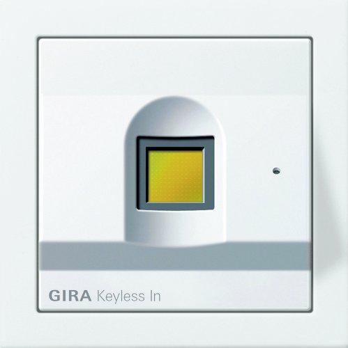 Gira 2607112 Keyless In Fingerprint Flächenschalter, reinweiß