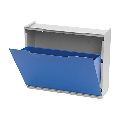 Art Plast U50/1B Scarpiera in Plastica, Blu/Bianco