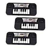 Toyvian 3 Piezas de Teclado de Piano Eléctrico Juguetes de 8 Teclas para Alfombra de Juego Juguetes Educativos de Instrumento de Música