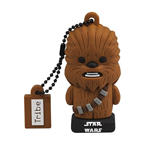Tribe Star Wars Chewbacca USB Stick 16 GB Speicherstick 2.0 High Speed Memory Stick Flash Drive, Lustige Geschenke 3D Figur, USB Gadget mit Schlüsselanhänger