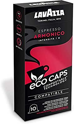 Lavazza Lavazza 100 Eco Caps Coffee Pods Compatible With Nespresso Original Machines Compostable 10 Pack Of ' 530 G 1 09 Kg 1