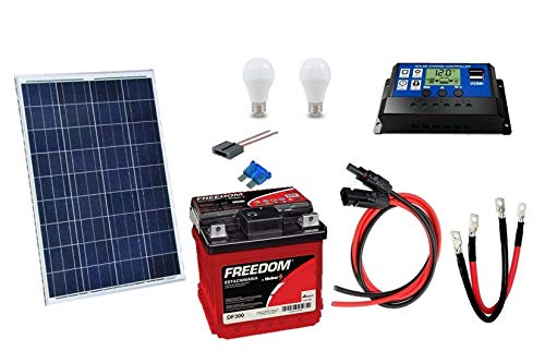 Kit Gerador de Energia Solar 30Wp - Gera até 97Wh/dia