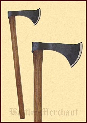 Battle-Merchant Axt Franziska - Dekorative, mittelalterliche Axt handgeschmiedet aus Stahl
