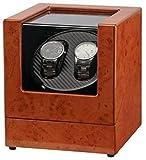 WBJLG Caja enrolladora de Reloj Caja enrolladora automática de Reloj enrolladora Doble Unisex automática, 2 Relojes de Pulsera Relojes Elegantes Almacenamiento con rotación Ajuste para Dama y homb