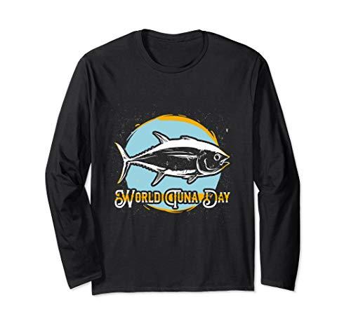 World Tuna Day Geschenk für Thunfisch Freunde & Tuna Fans Langarmshirt