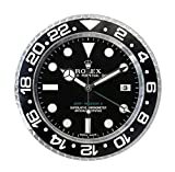 Rolex Replika Wanduhr Motiv Rolex GMT 2 Classic White Rolex GMT schwarzes Ziffernblatt
