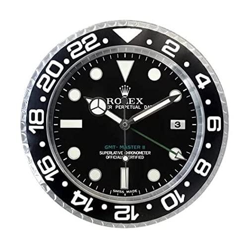Rolex GMT 2 Classic - Reloj de pared, diseño de réplica, color blanco