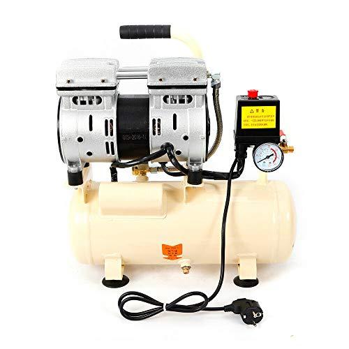 Compresor de aire comprimido silencioso, 500 W, compresor de aire comprimido de 8 l, silencioso, sin aceite, compresor...