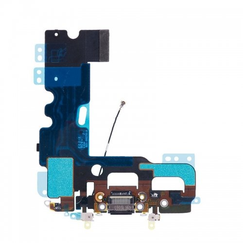 BEST SHOPPER - Replacement for Charging Port Flex Cable Compatible with iPhone 7 Plus 5.5 Inch - Black