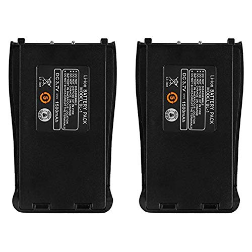 BaoFeng BL-1 3.7V 1500mAh Battery for BaoFeng BF-888S BF-777S BF-666S BF-88E Two-Way Radio Walkie Talkie Transceiver (2Pcs)