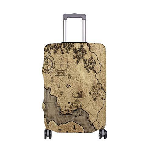 ALINLO - Funda para Equipaje con diseño Vintage de Mapa náutico para Maleta de...