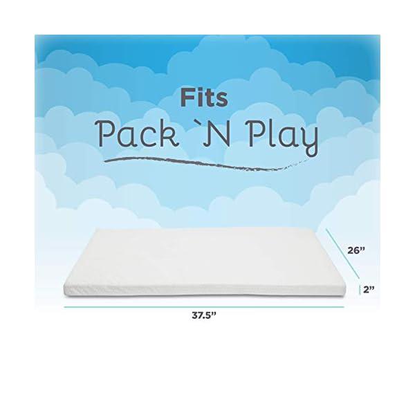 Milliard Memory Foam Pack N ' Play Mattress Topper