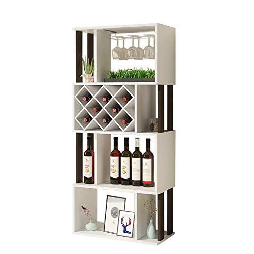 ZKAIAI Retro Moderno Estilo Estantería for almacenar el Vino, Estante del Vino Botellero Vidrio/gabinete del Vino Vino Rack/exhibición de Piso de la Sala del gabinete/Inicio de Reparto Marco del