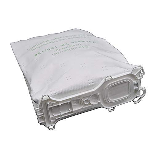 18 bolsas de aspiradora de 5 capas, fabricadas en microfibra de alta calidad, aptas para alérgicos, aptas para aspiradoras Vorwerk - Kobold 135/136/135SC / VK135 / VK136 / FP135 SC (blanco)