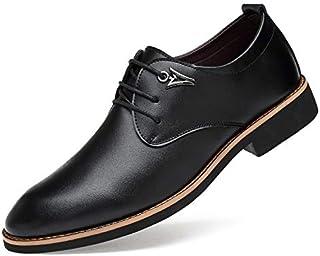 [AFANDA] ビジネスシューズ メンズ 革靴 紳士靴 レザー レースアップ ウィングチップ 通気性
