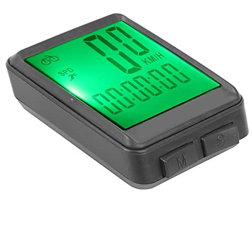 Ever Mountain Road Bike Tabla de códigos en inglés con Pantalla LCD Digital Velocímetro Impermeable con Cable velocímetro Luminoso