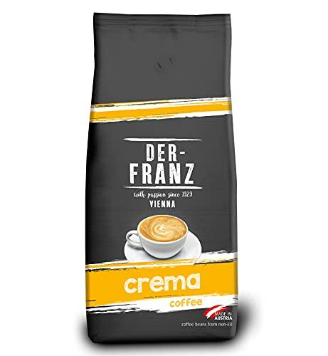 Der-Franz - Café Crema con certificación UTZ, en grano, 1000 g