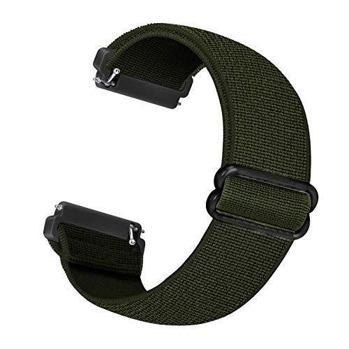 Correa de repuesto elástica Cuteeze compatible con correa Fitbit Versa / correa Fitbit Versa 2, correas de repuesto de nailon suave para Fitbit Versa 2 / Versa / Versa Lite (verde ejercito)