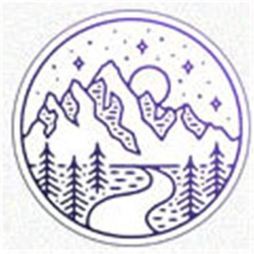 BANGNA 500+ Patrones Sello de Cera Kits de Sellos de Madera Retro Serie Cabeza de Cobre-Montaña