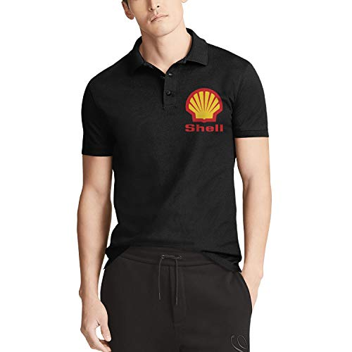 Men's Polo T Shirt Comfortable Shell-Gasoline-Gas-Station-Logo- Daily Vintage T Shirts