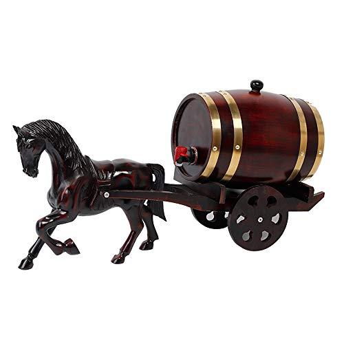NEHARO Hölzernes Weinfass Wein Werkzeuge Whisky-Zufuhr Weinfass aus Holz Whisky Trinken Brunnen for Partys Verschiedene Spezifikationen (Farbe : Braun, Größe : 5L)