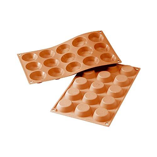 silikomart 20.014.00.0065 Moule 15 Mini tartelettes Classic, Rouge, 17,5 x 30 cm
