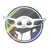 PMSMT Hasbro Star Wars Mandalorian Baby Yoda PVC Pegatinas de Dibujos Animados monopatín portátil Equipaje Pegatina de Coche Accesorios