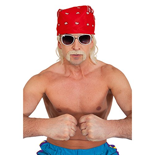 Men's Hulk Hogan Rocker Upper Lip Beard Moustache Gangster Moustache Prolet Moustache Full Horst Faux Beard Carnival Costumes Accessories
