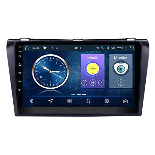 Radio Coche con Navegación GPS Android 8.1, TV Estéreo con Pantalla Táctil 9', para Mazda 3 Sport 2010-2016, con Control Volante Llamadas Manos Libres BT Enlace Espejo Dab USB SWC