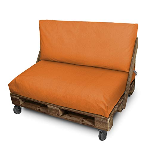 HAPPERS Cojín Impermeable y Desenfundable para Palets en Naylim Naranja Mate 120x80