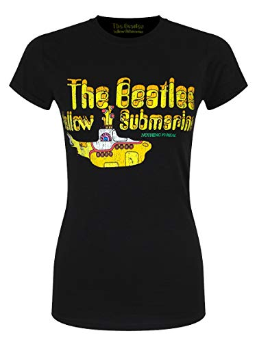 The Beatles T-Shirt Nothing Is Real da Donna in Nero